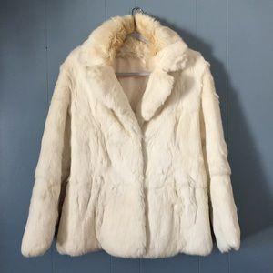 White Rabbit Fur Jacket
